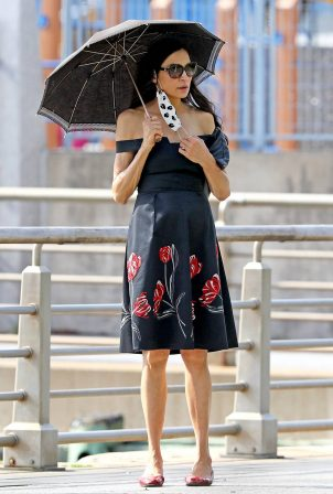 Famke Janssen - Looks cute while out in NYC