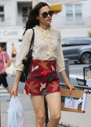 Famke Janssen - Out and about in New York City
