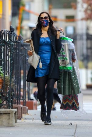 Famke Janssen - out and about in New York