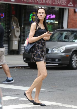 Famke Janssen Out and about in NY