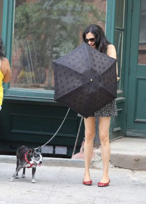 Famke Janssen out in New York City