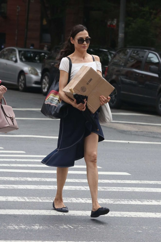 Famke Janssen - Out in New York City
