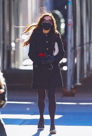 Famke Janssen - Out on a stroll in New York