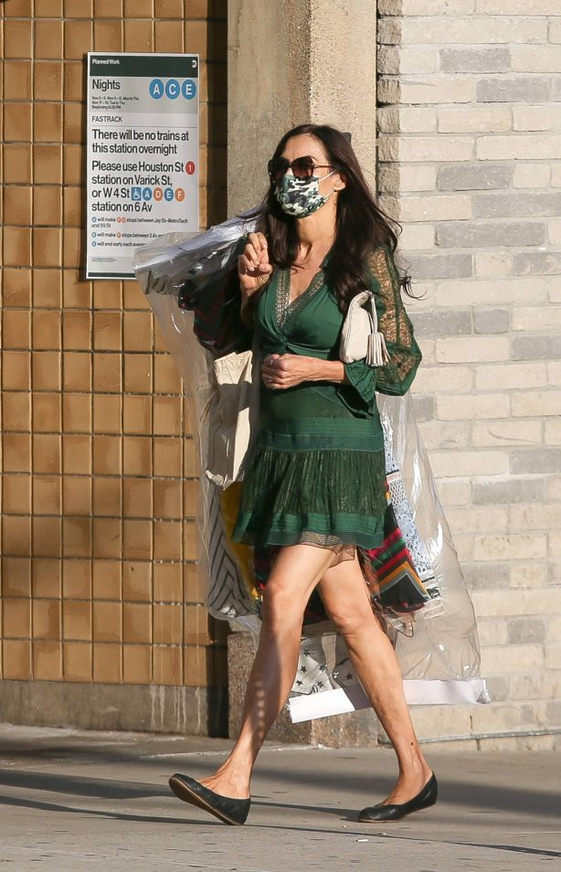 Famke Janssen - Seen out and about in NYC