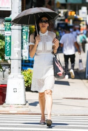 Famke Janssen - Seen while out in New York