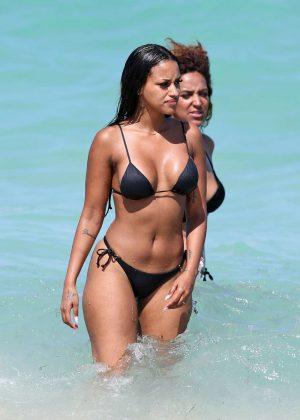 Fanny Neguesha in Black Bikini 2016 -01