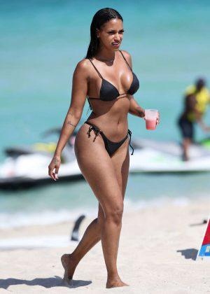 Fanny Neguesha in Black Bikini 2016 -04