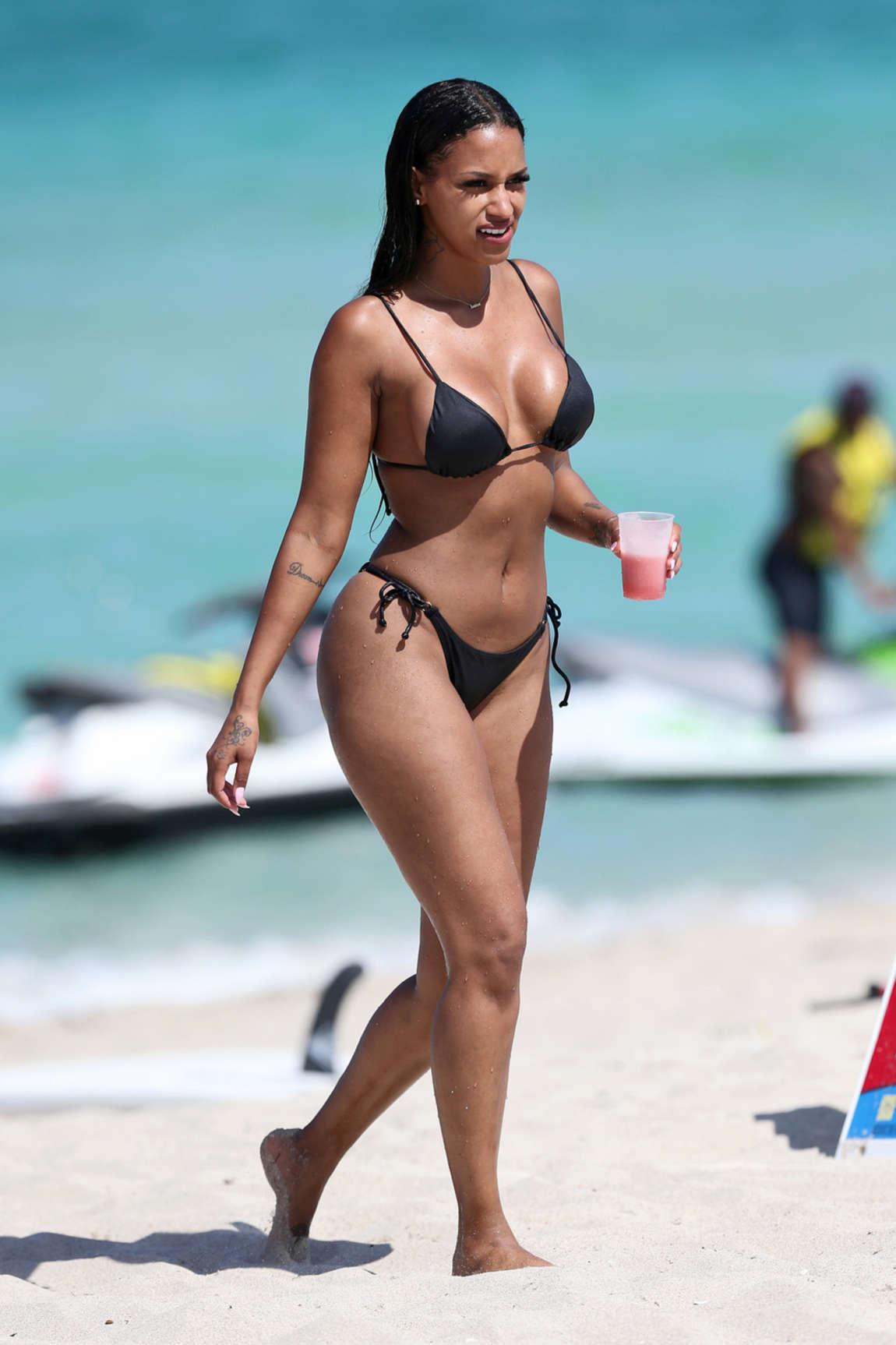 67451f1e70e59 Fanny Neguesha in Black Bikini 2016 -04 – GotCeleb