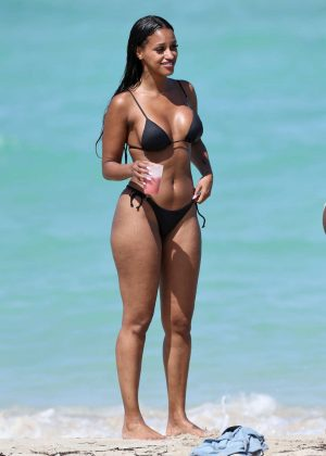 Fanny Neguesha in Black Bikini 2016 -05