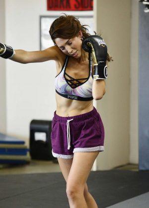 Farrah Abraham at 10th Planet Jiu Jitsu gym in LA