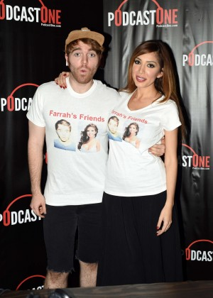 Farrah Abraham at Interviewing Shane Dawson for her podcast radio show in Los Angeles