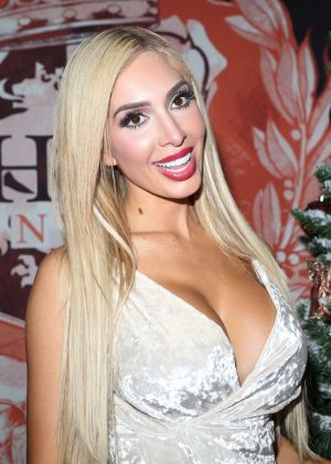 Farrah Abraham - Headquarters NYC Strip Club Annual Christmas Party in NY
