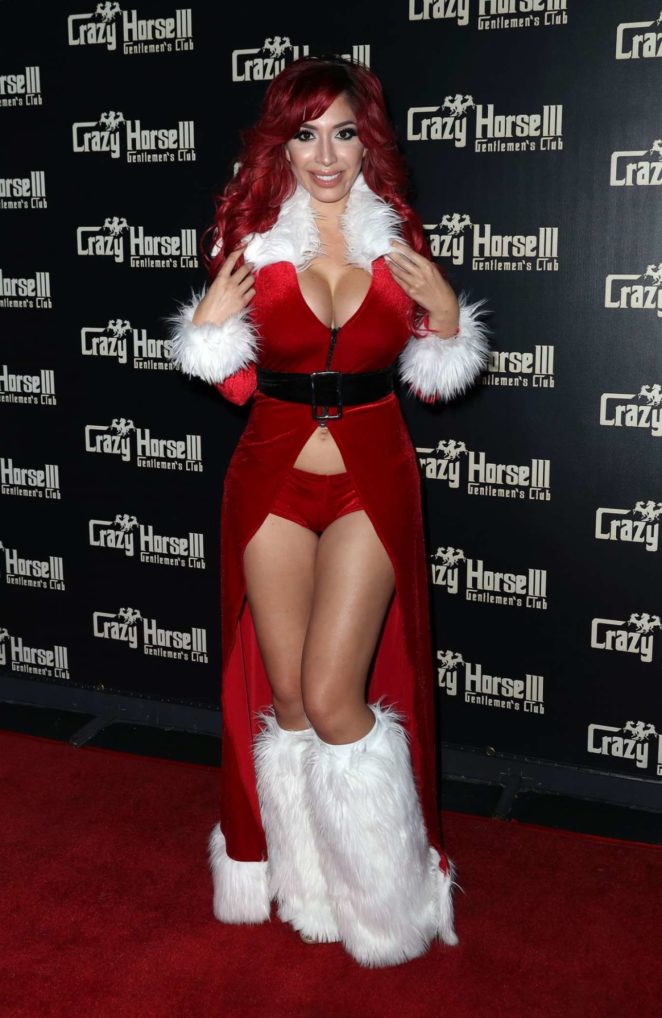 Farrah Abraham – Host Crazy Horse III Neon Flow Holiday Party in Las Vegas