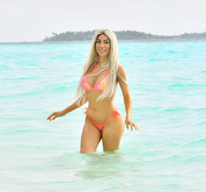 Farrah Abraham in Bikini at the Ayada Resort in the Maldives