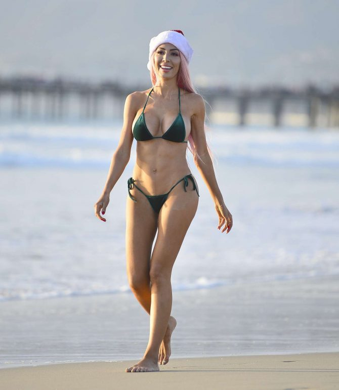 Farrah Abraham in Bikini for a Christmas Photoshoot in Los Angeles