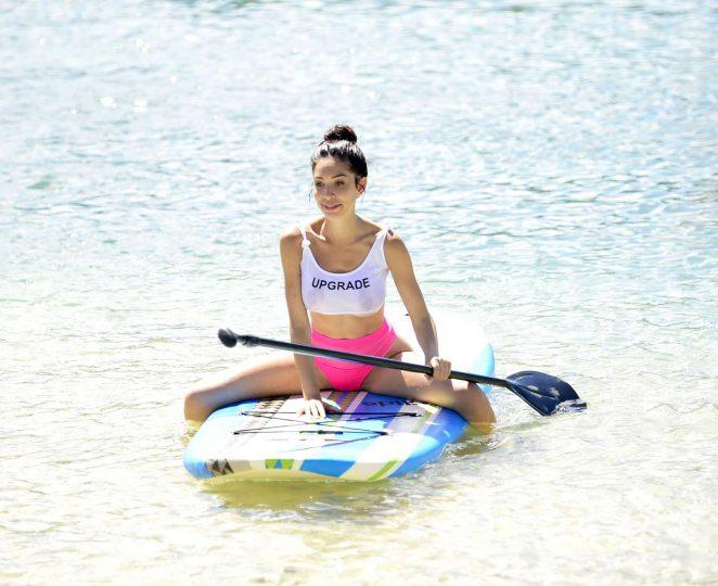Farrah Abraham in Bikini - Paddleboarding in Fiji