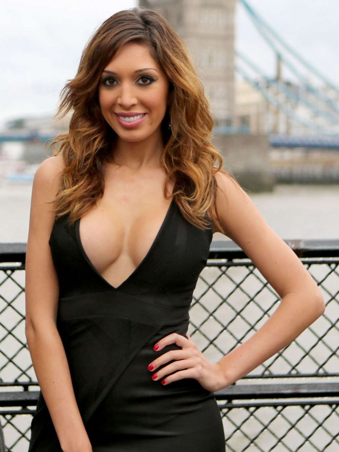Farrah Abraham in Black Dress out in London