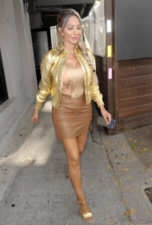 Farrah Abraham - In golden outfit at Craig's in West Hollywood