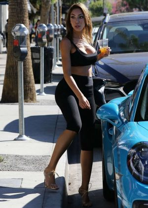 Farrah Abraham in Leggings - Out in Los Angeles