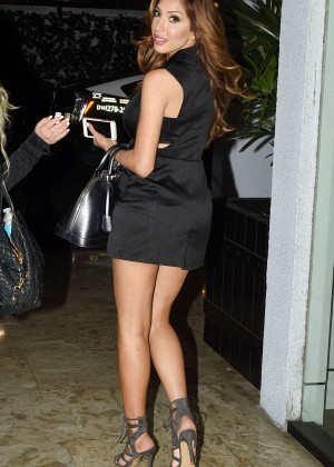 Farrah Abraham in Mini Dress night out in Los Angeles