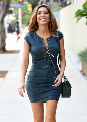 Farrah Abraham in Mini Dress out in Santa Monica