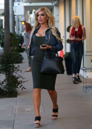 Farrah Abraham in Tight Dress Out in Beverly Hills