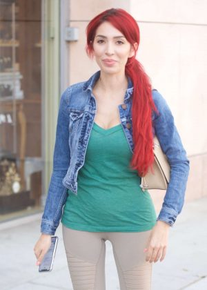 Farrah Abraham in Tights - Out in Beverly Hills