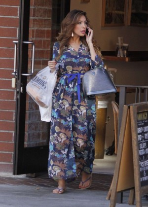 Farrah Abraham in Long Dress Shopping in Beverly Hills