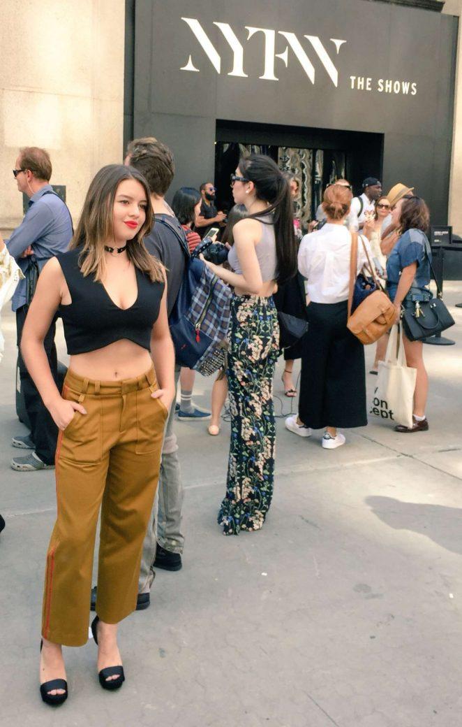 Fatima Ptacek Michael Costello Show At 2016 New York Fashion Week