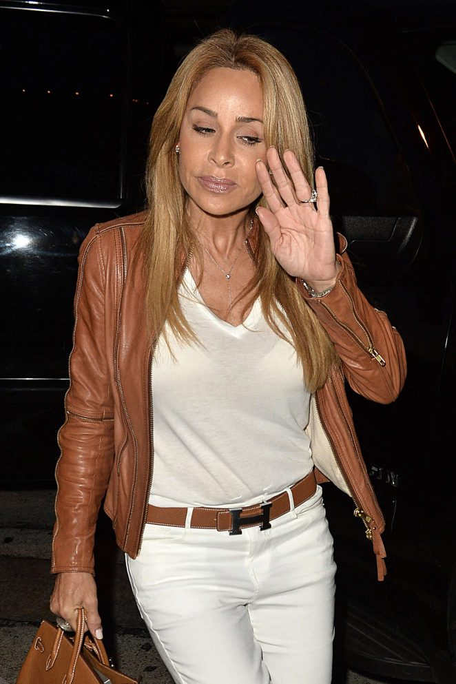 Faye Resnick out for a dinner in West Hollywood