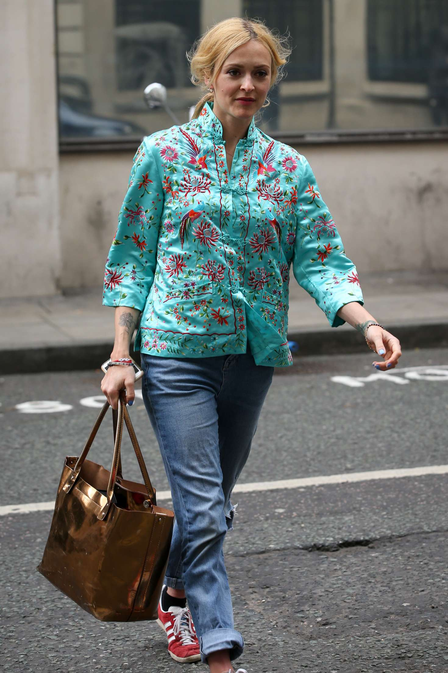 fearne cotton arrives at the bbc radio 2 studios in london. Black Bedroom Furniture Sets. Home Design Ideas
