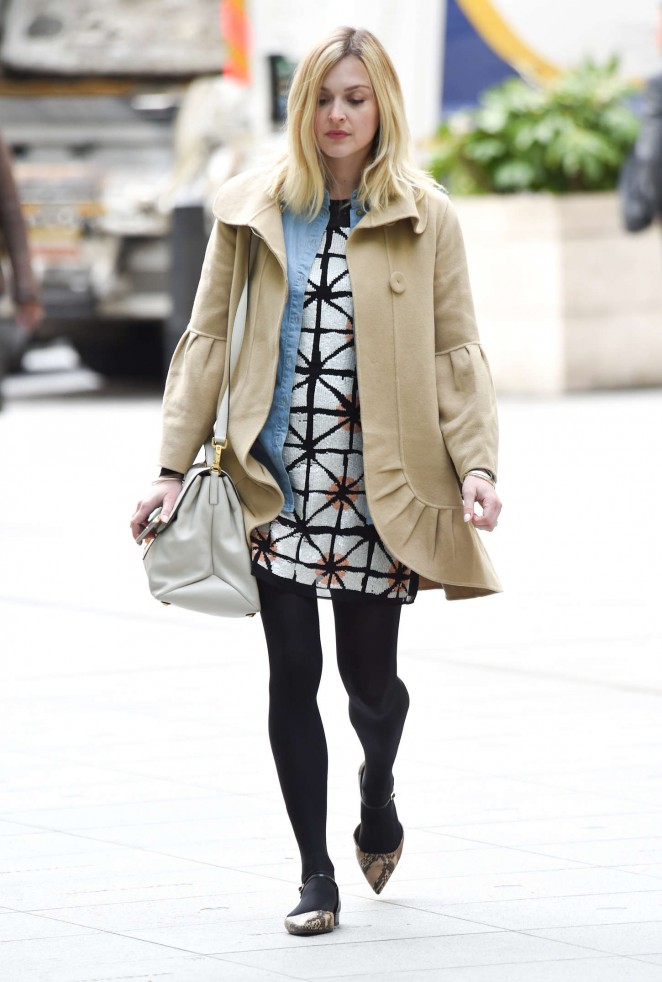Fearne Cotton in Short Dress at BBC Radio 1 in London