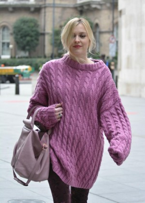 Fearne Cotton in Pink Jumper out in London