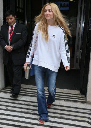 Fearne Cotton Leaving BBC Radio Two studios in London