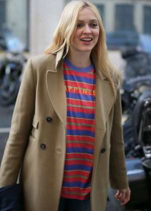 Fearne Cotton - Leaving the BBC Radio Two studios in London