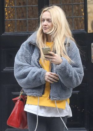 Fearne Cotton out in Central London