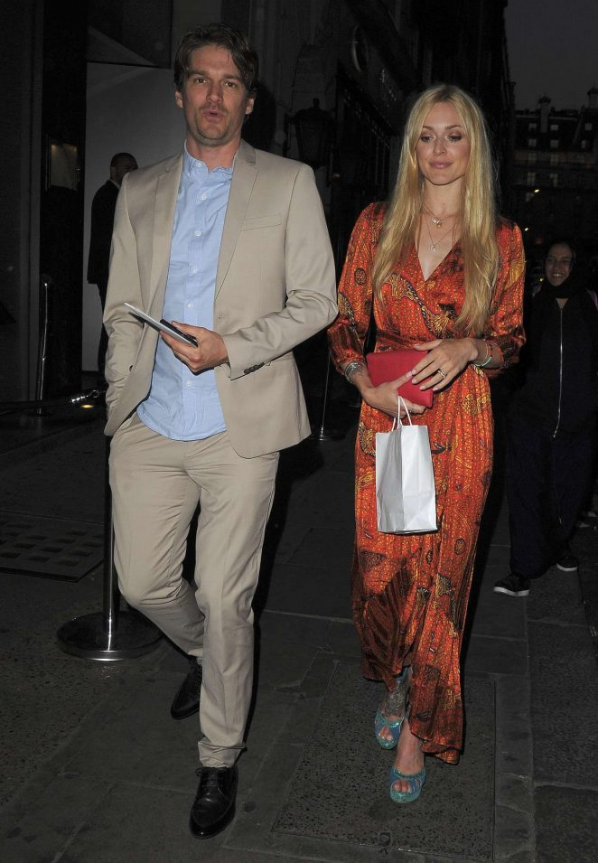 Fearne Cotton with Jesse Wood at NOBU restaurant in London