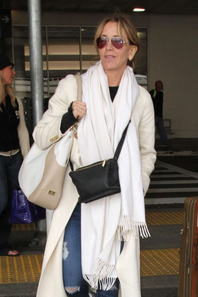 Felicity Huffman Arrives at LAX Airport in LA