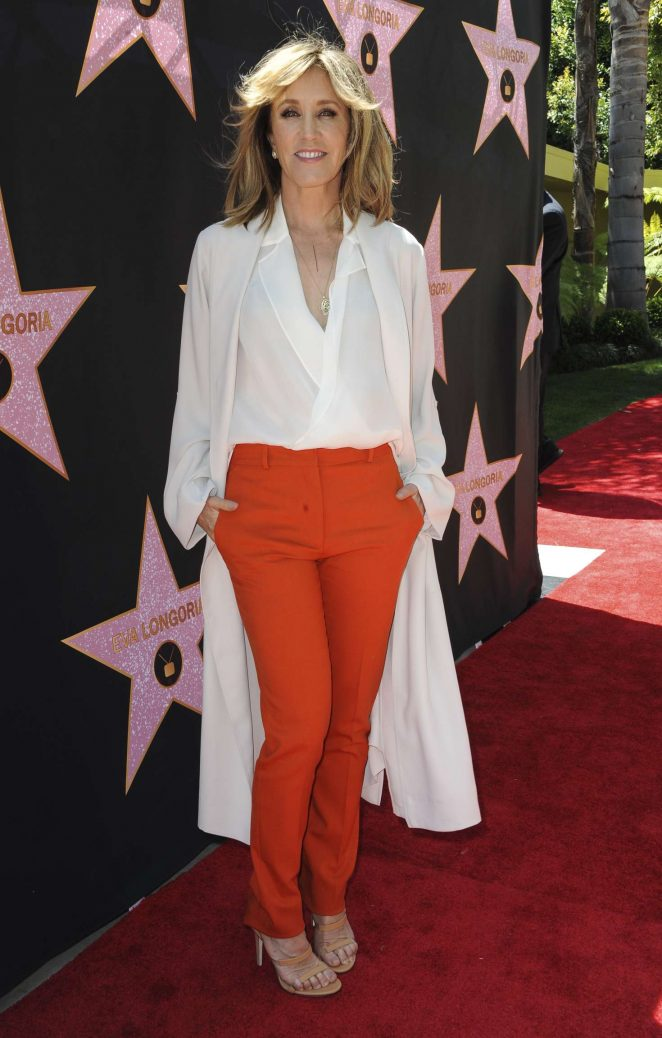 Felicity Huffman – Eva Longoria Hollywood Walk Of Fame Ceremony in Beverly Hills
