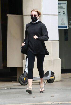 Felicity Huffman - In all black running errands in Santa Monica