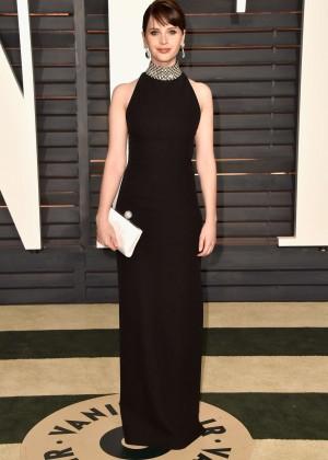 Felicity Jones - 2015 Vanity Fair Oscar Party in Hollywood