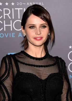 Felicity Jones - 2015 Critics Choice Movie Awards in LA