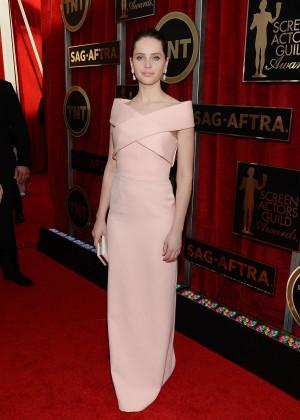 Felicity Jones - 2015 Screen Actors Guild Awards in LA