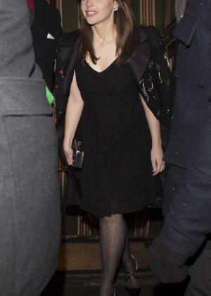 Felicity Jones - Arrives at Chanel BAFTA Party in London