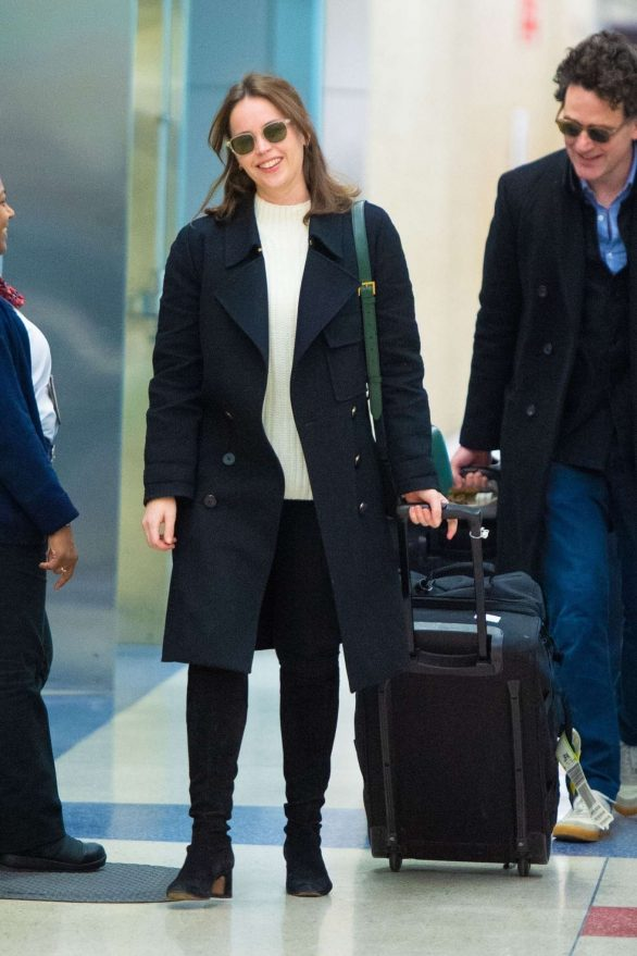 Felicity Jones - Arrives at JFK Airport in New York