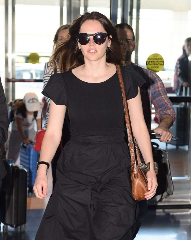 Felicity Jones Arrives at JFK airport in NYC