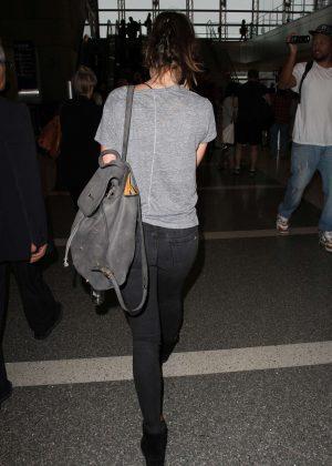 Felicity Jones Arrives at LAX Airport -06