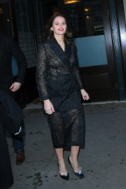 Felicity Jones - Arrives at 'The Tonight Show starring Jimmy Fallon' in New York