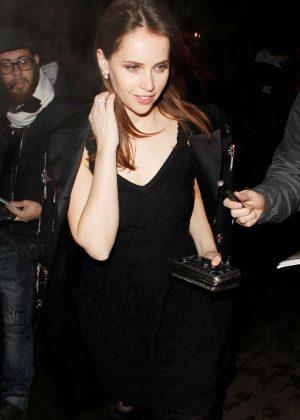 Felicity Jones - Arriving at her Hotel in London