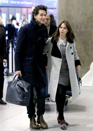 Felicity Jones at JFK airport in New York